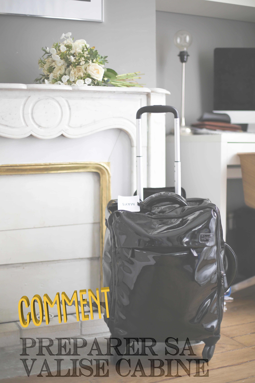 comment pr parer sa valise cabine the brunette. Black Bedroom Furniture Sets. Home Design Ideas